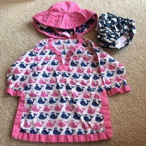 6-12M Pottery Barn coverup and hat